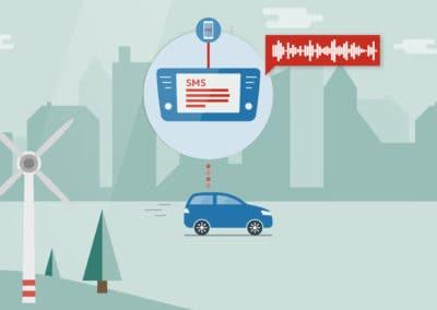 Auto vor Stadt - Illustration